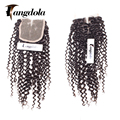 Mongolian Kinky Curly Lace Closure Virgin Afro Kinky Lace Closure Mongolian Kinky Curly Closure Middle Three Free Part Closure