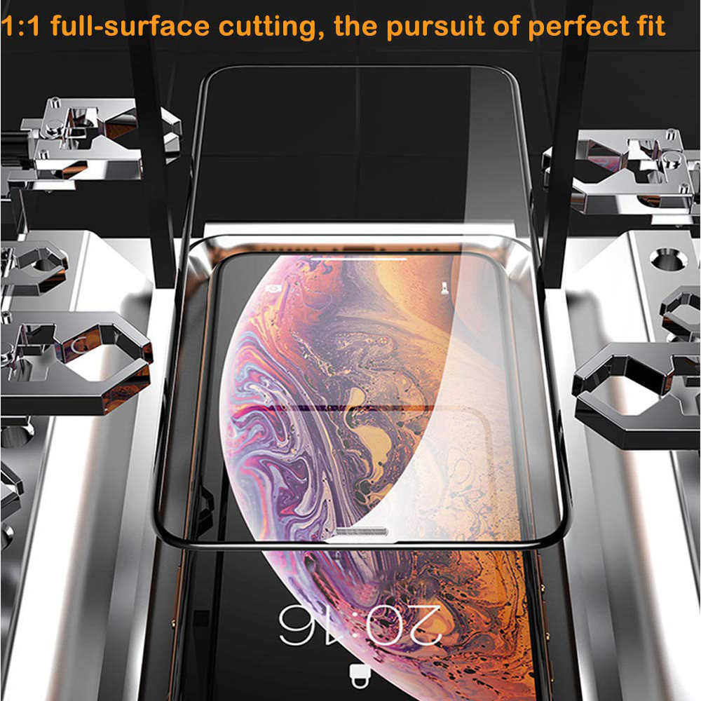 3D מלא כיסוי מזג זכוכית עבור iphone X XS MAX XR מסך מגן iphone 6 6 S 7 8 בתוספת Dustproof מתכת רשת מגן סרט