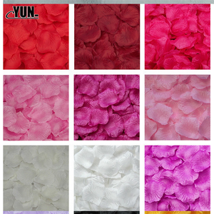 Image 2 - A. 1000Pcs Wholesale Wedding Rose Petals Decorations Flowers Polyester Wedding Rose New Fashion 6D