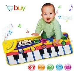 Büyük Bebek Müzik Halı Klavye Playmat Müzik oyun matı Piyano Erken Öğrenme Çocuklar için Eğitici Oyuncaklar Çocuklar için Bulmaca Hediyeler