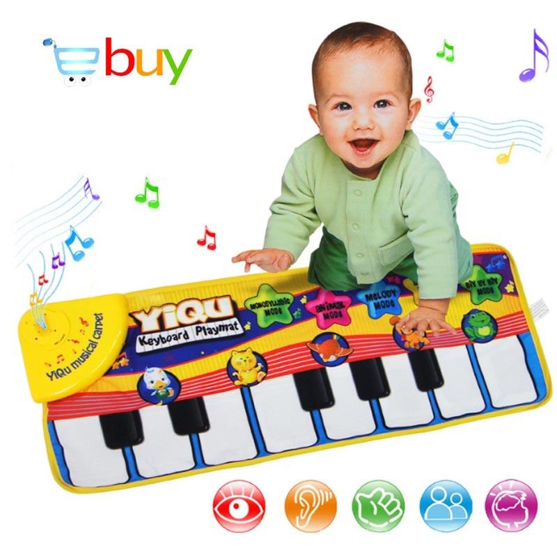 Grande Teclado Playmat Tapete Musical Do Bebê Esteira do Jogo Música de Piano Aprendizagem Precoce Brinquedos Educativos para Crianças Crianças Enigma Presentes
