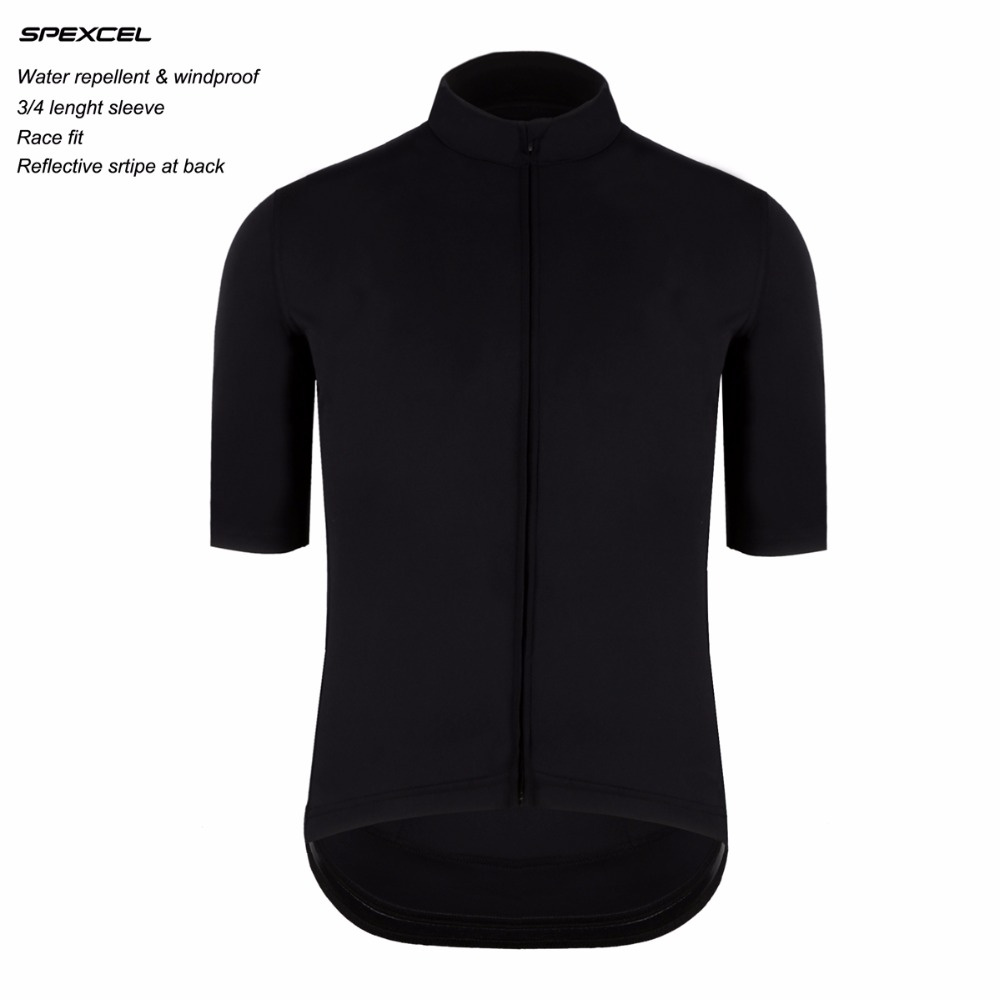 SPEXCEL High quality water repellent all weather pro team cycling jersey 3/4 length short sleeve windproof bicycle clothes пена монтажная mastertex all season 750 pro всесезонная