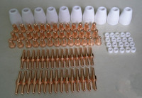190PCS Free Shipping PT 31 LG 40 Plasma Cutting Cutter Torch Consumables Extended Nozzle TIPs Fit