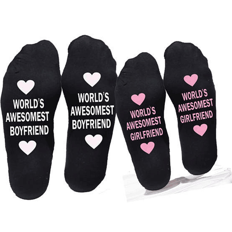 Birthday gift for boyfriend cotton Socks small love gift Anniversary girlfriend present party favor valentines day gift