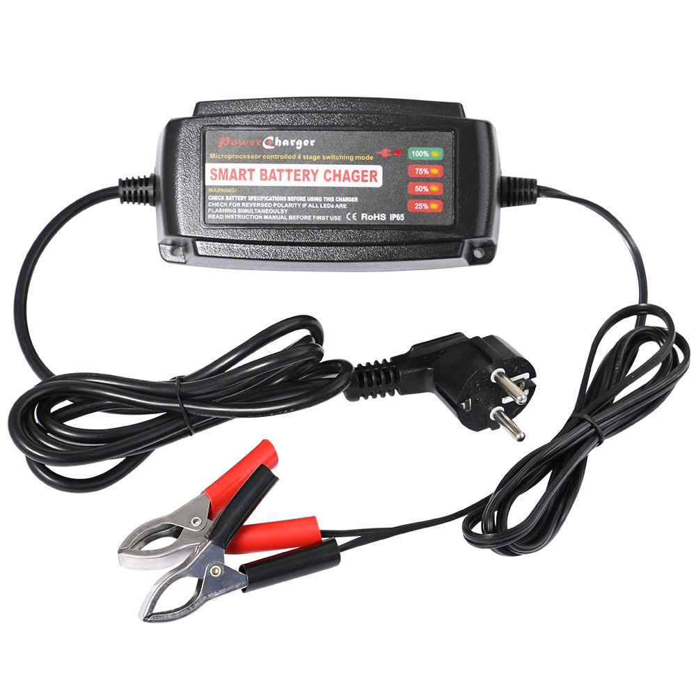 Aliexpress com buy waterproof 12v 5a car battery charger maintainer desulfator smart battery charger for agm gel wet batteries eu au uk us plug from