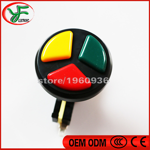 Image 4 - 10PCS Jamma Arcade 3 in 1 Round Push Button with high quality micro switch for arcade game machines Triple Colors