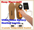 WS-SE322LA Sporty 2600mAh Outdoor Ski&Hiking USB Electric Lithium Battery Self Heating Insoles,3 Gear Thermostat Warm 4-8h,38-46