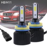 1Pair 72W H8 H11 8000LM 6000K Car LED Headlight Kit Auto High Low Beam Bulbs Automotive