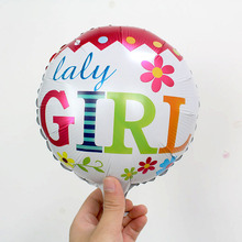 KAMMIZAD Cute Balloons Gender Reveal Baby Shower Different Face 50pcs/lot Party Aluminium Foil Decoration Mini Globos Supplies
