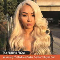 BEAUDIVA 613 Honey Blonde Preplucked Brazilian Wig Remy Hair Body Wave Wig 13X4inch Lace Front Human Hair Wigs for Black Women