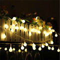 A prueba de agua caja de La Batería luz de la Secuencia del LED 4 M 40led bola al aire libre iluminación de la decoración para el festival de navidad Jardín del banquete de Boda