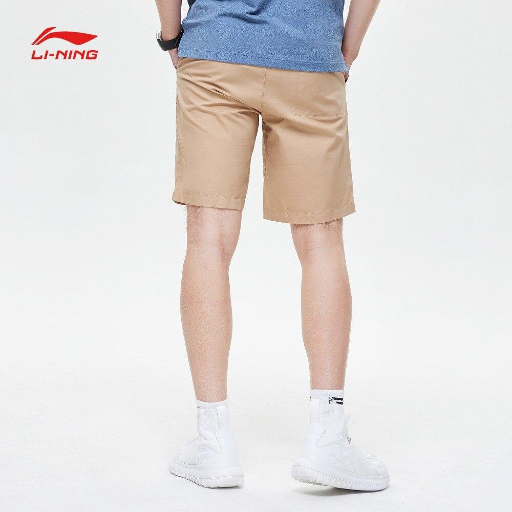 Li Ning Men The Trend Walkshorts Cotton Breathable Regular Fit Adjustable Waist LiNing Sports Shorts AKSP097 MKD1624-in Trainning & Exercise Shorts from Sports & Entertainment    3