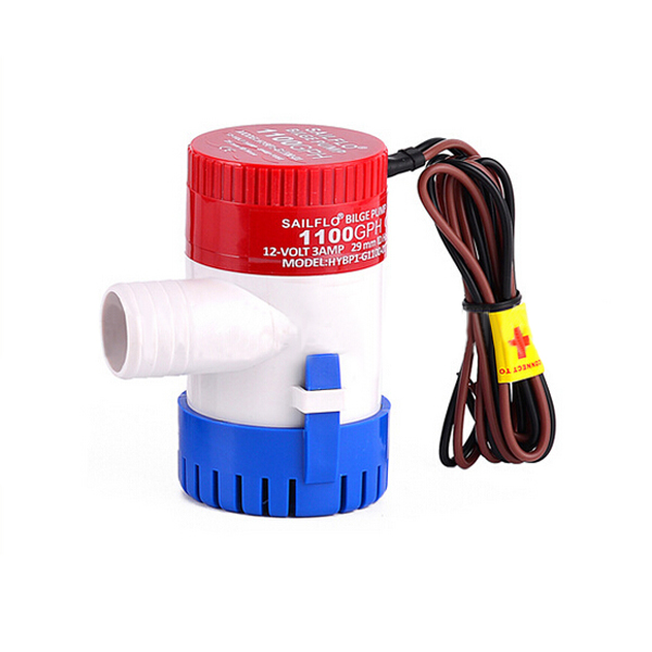 12v//24v bilge pump 1100GPH,electric water pump submersible boat water pump
