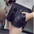 Fashion Autumn Winter  PU Leather  Short  Solid Slim High Waist Women Shorts Casual Hot fitness Sexy Lady Botas Femininas B8