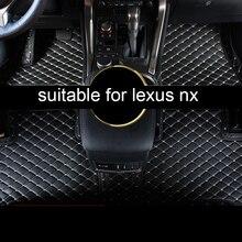 Lsrtw2017 Роскошные волокно кожаный салон автомобиля коврик для lexus nx200t nx300h nx300 2015 2016 2017 2018 2019 2020
