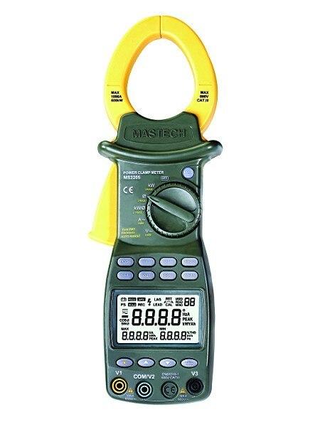 MS2205 testeur harmonique RS232 de pince de puissance à 3 phases