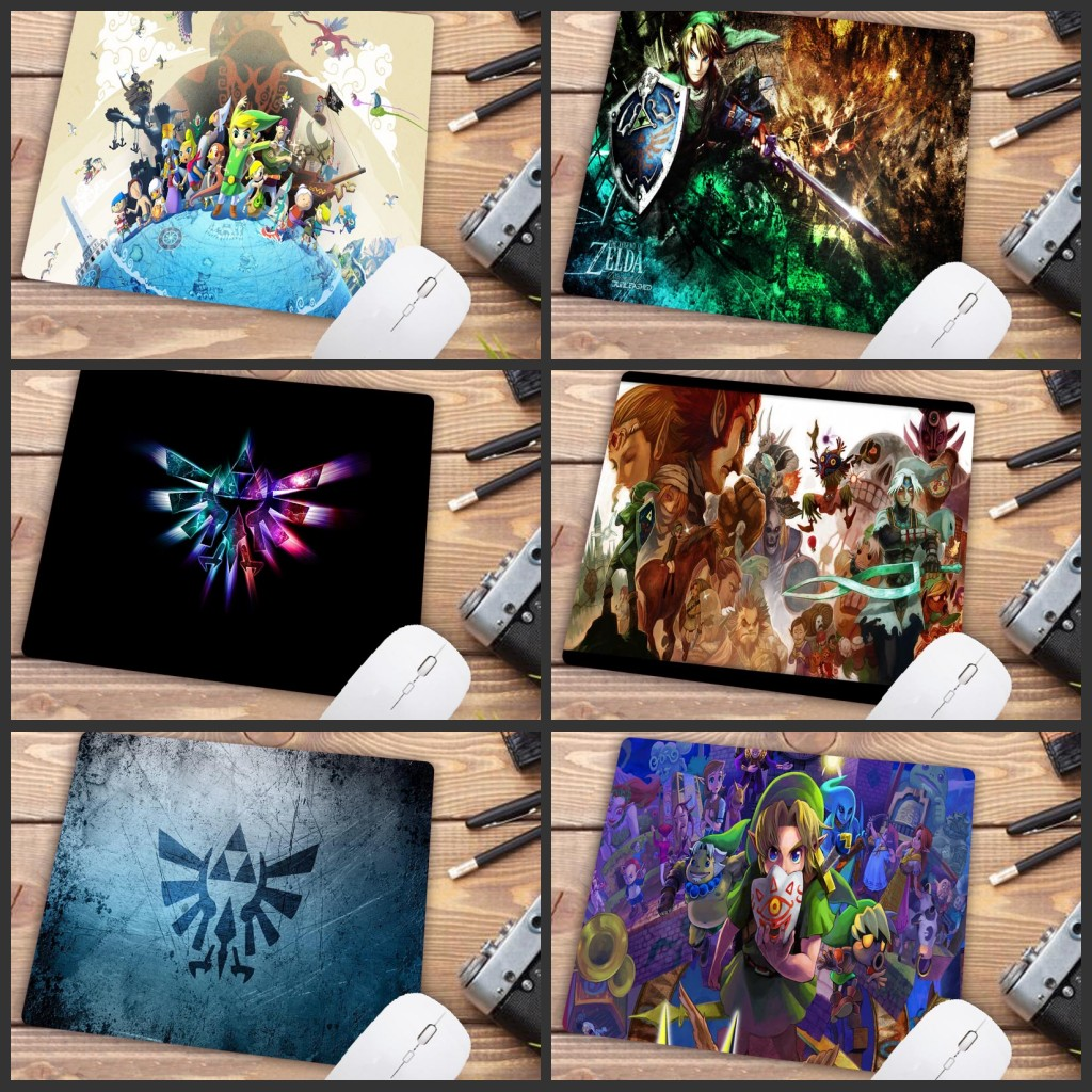 Mairuige Big Promotion The Legend Of Zelda Logo High Speed New Mousepad Gaming Mouse Pad Anti-slip PC Computer Desk Mat 22X18CM