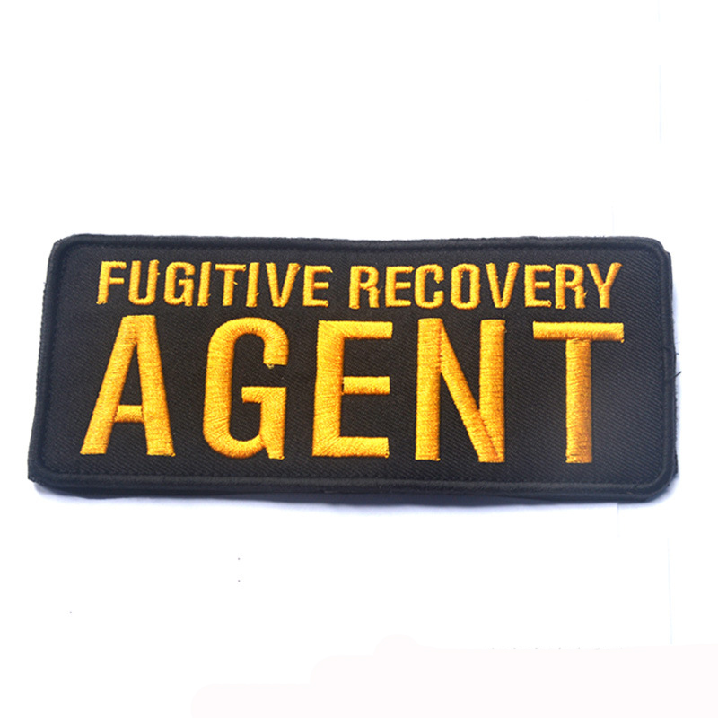 10pcs Fugitive Recovery AGENT Tactical Operator Hat Patches 3D Badge Fabric  Armband Badges Stickers Morale Patches Military-in Patches from Home    Garden on ... 7dc96fd728f