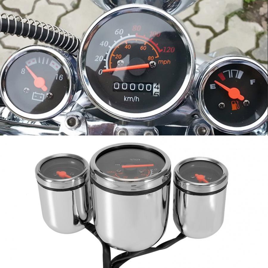 Universal Motorcycle Instrument Kit Motorcycle Instrument Digital Tachometer Speedometer Odometer Meter Gauge Kit Waterproof