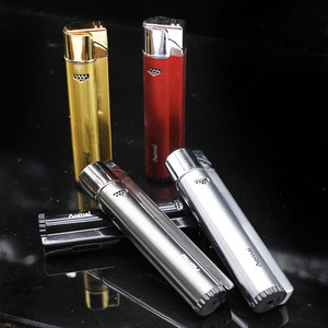 Image 1 - Tubes Pipe Lighter Jet Torch Turbo Lighter Gas Windows Compact Strip Windproof Metal Cigar Lighter 1300 C Butane No Gas