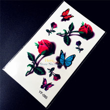 Sexy Products Roses Waterproof Fake Temporary Tattoo Women Body Art Arm HYF-085 3D Flower Flash Tatoo Style Self Adhesive