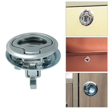 1X 2″ Marine Grade Cam Latch Flush Pull Hatch Deck Latch Lift Handle with Back Plate Boat Hardware