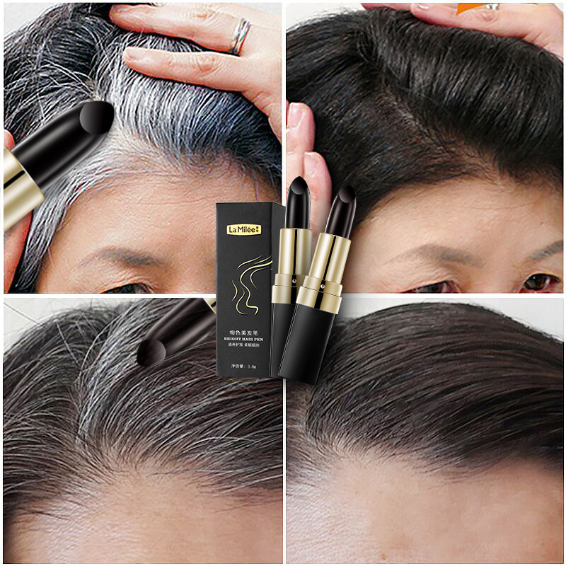 2019 Hot Fashion Temporary Hair Color Modified Cream Color Repair Pen Dye Kit Portable Anti-static Plant Mild Ingredients Cover