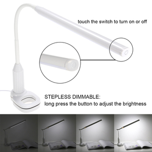 Image 4 - USB Powered Clamp Clip Light Table Lamp Touch Sensor Control Flexible Lamp Desk Reading Working Studying Table Lamp Night Light