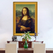 Classic Oil Painting Leonardo Da Vinci The Mona Lisa Smile Canvas Print Posters Wall Picture For Living Room Home Decor