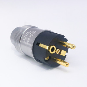 Image 3 - Par de krell de alta qualidade banhados à ouro, tomada de energia cei, conector de áudio hi end, cabo de energia ac, para audiofil cabo de rede diy