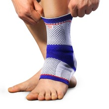 1 Piece Gel Sport Ankle Brace flat knitting machine Knitting Compression Sport Support Sleeve Sock Joint Relief The Pain
