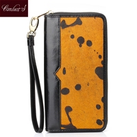 2015 New Arrival Women Wallets Lady S High Quality Horse Hair Genuine Leather Wallet Clutch Coin