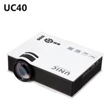 UC40 Portable Mini Proyector LED Home Cinema Teatro USB/SD/AV/HDMI 3.5mm salida De Audio Powerbank