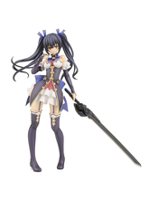 Anime Hyperdimension Neptunia Noire PVC Action Figure Sexy Mädchen Schwarz Herz Figur Anime Abbildung Modell Spielzeug Sammlung