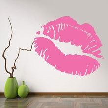 Fashion Girl Woman Hot Lips Wall Sticker Art Home Decor Beauty Salon Vinyl Decals Mouth F762
