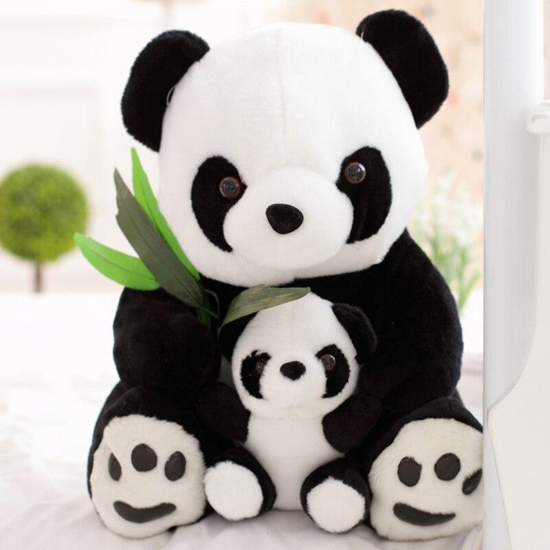 25 Cm Duduk Ibu Dan Bayi Panda Plush Mainan Boneka Panda Boneka