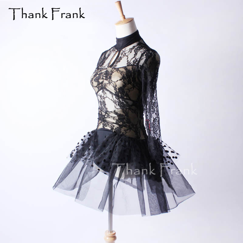 Sexy Lace Ballet Tutu Dress Girls Adult Long Sleeve Dance Costume Thank Frank C391-in Ballet from Novelty & Special Use    2