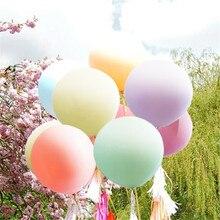 5pcs Pastel Macaroons Balloon 36 Large Latex Dusty Pink Blush Peach White Rose Modern Giant Jumbo Birthday Party Favor