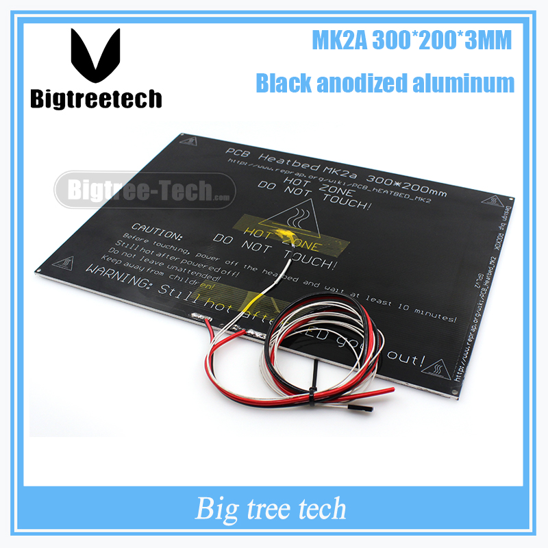 MK2A 300*200*3.0mm PCB Heatbed MK3 RAMPS 1.4 Para 3D de Impressora Parte