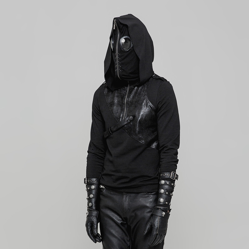 Sweatshirts Mask PU Cotton