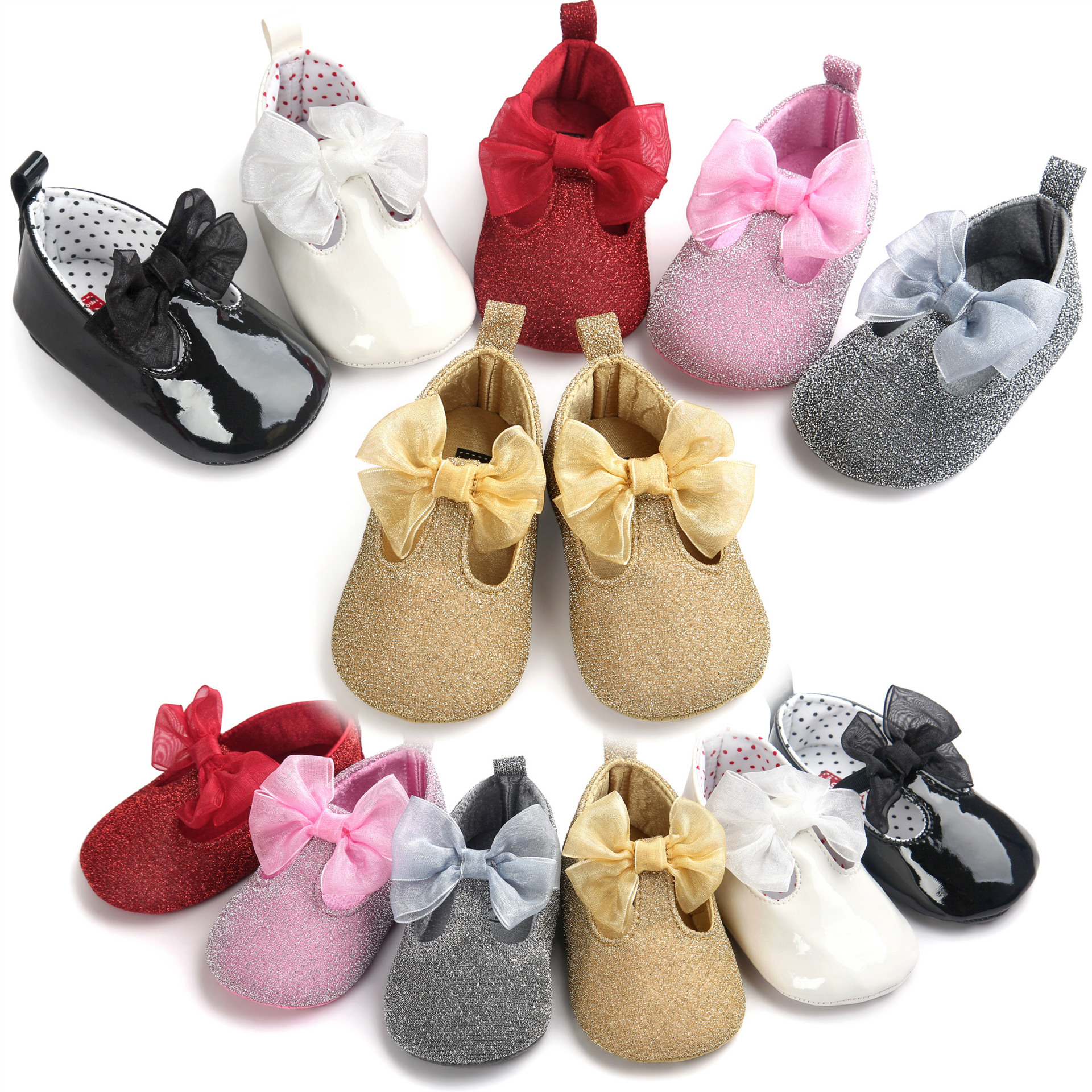 Shining Bright Baby Shoes Bling Bling Female Girls Toddler Shoes Ballet Princess Newborn Crib Shoes First Walkers
