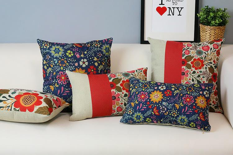 hermoso jardn de flores almohadas cojines para sofs de estilo country americano rojo lindo almohadas decorativas