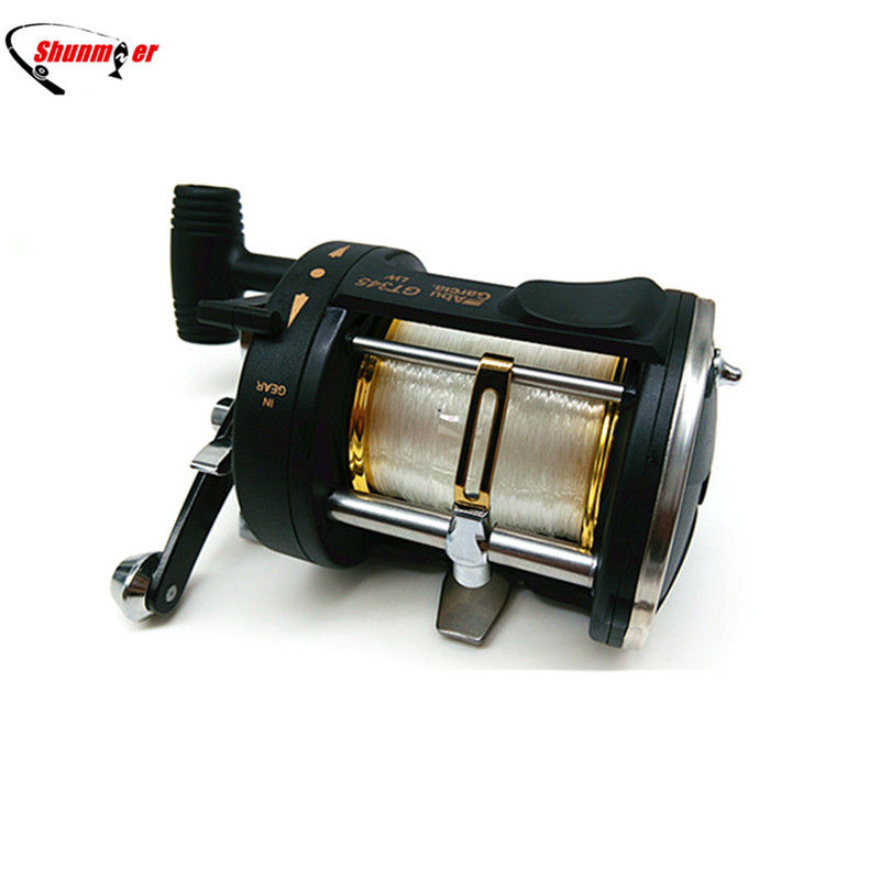 SHUNMIER 2BB 3.8:1 Boat Reel Right Hand Trolling Sea Powerful Fishing Reel With Strong Carbon Matrix Line Drum Fishing Reel