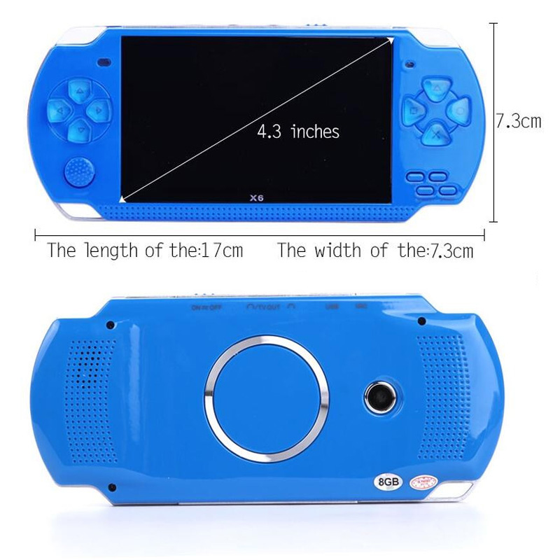 Retro High Quahandheld Game Console 4.3 inch screen mp4 player MP5 game player real 8GB support for psp game,camera,video,e-book