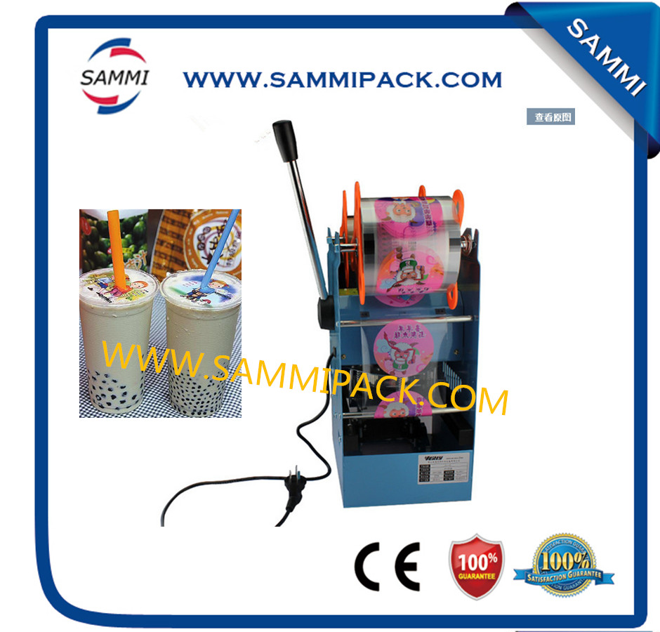 High quality WY-802D plastic cup sealing machine for bubble teaHigh quality WY-802D plastic cup sealing machine for bubble tea