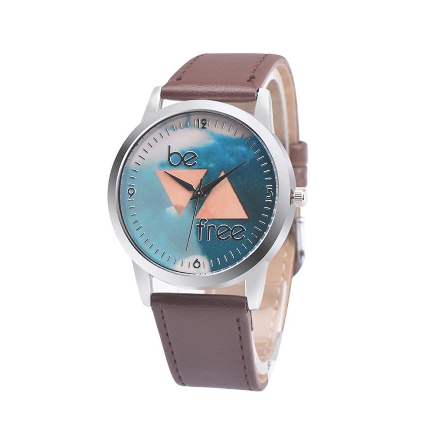 Casul Vintage WristWatch Leather Band Retro Be Free Design Analog Alloy Quartz Wrist Watch reloj mujer jun7