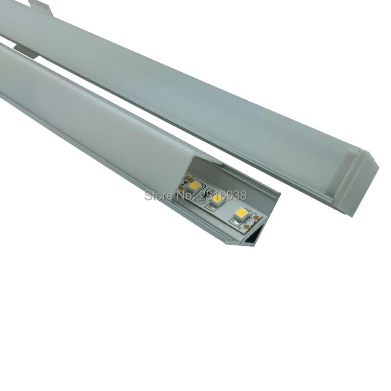 100 X 1M Seturi / Lot 90 de colț profil de aluminiu colț pentru - Iluminat cu LED