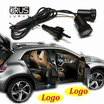 цена на JURUS Car Light Door Auto Ghost Shadow Light Laser Projector Light Led Logo Courtesy For Lada For Opel For Saab For Renault Lamp