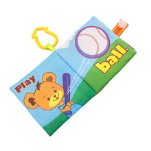 Baby Toys 0 12 Months Baby Education Toy Cloth Books English Language Washable Soft Book Toys