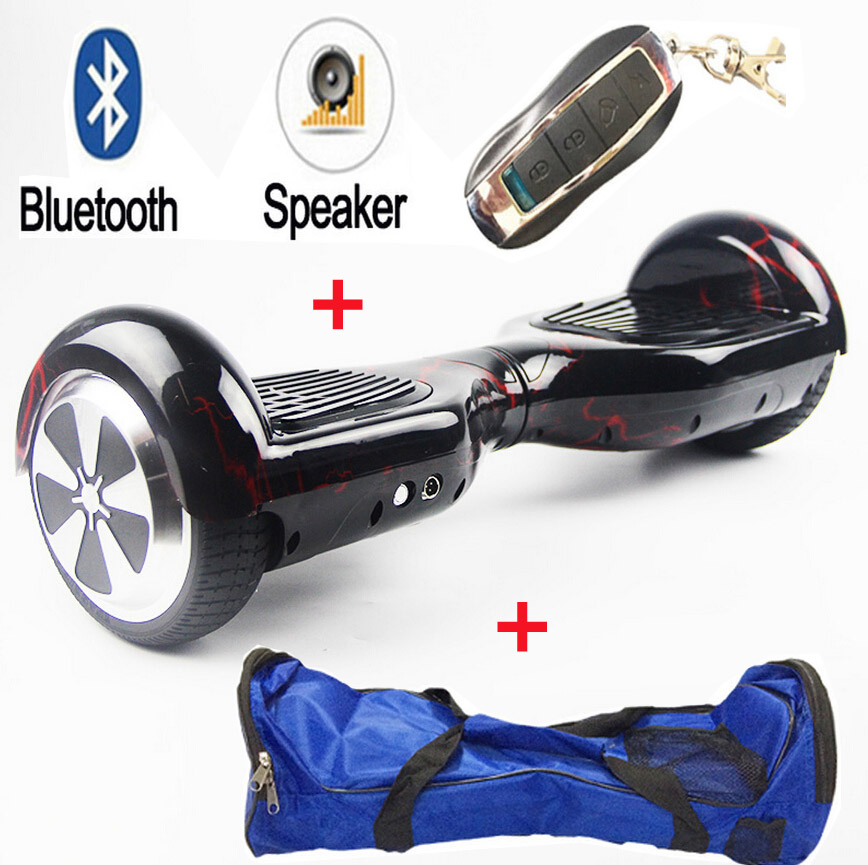 Samsung battery +bluetooch+remote +bag 6.5 inch self balance electric scooter electric skateboard hoverboard for Christmas gift 40km h 4 wheel electric skateboard dual motor remote wireless bluetooth control scooter hoverboard longboard